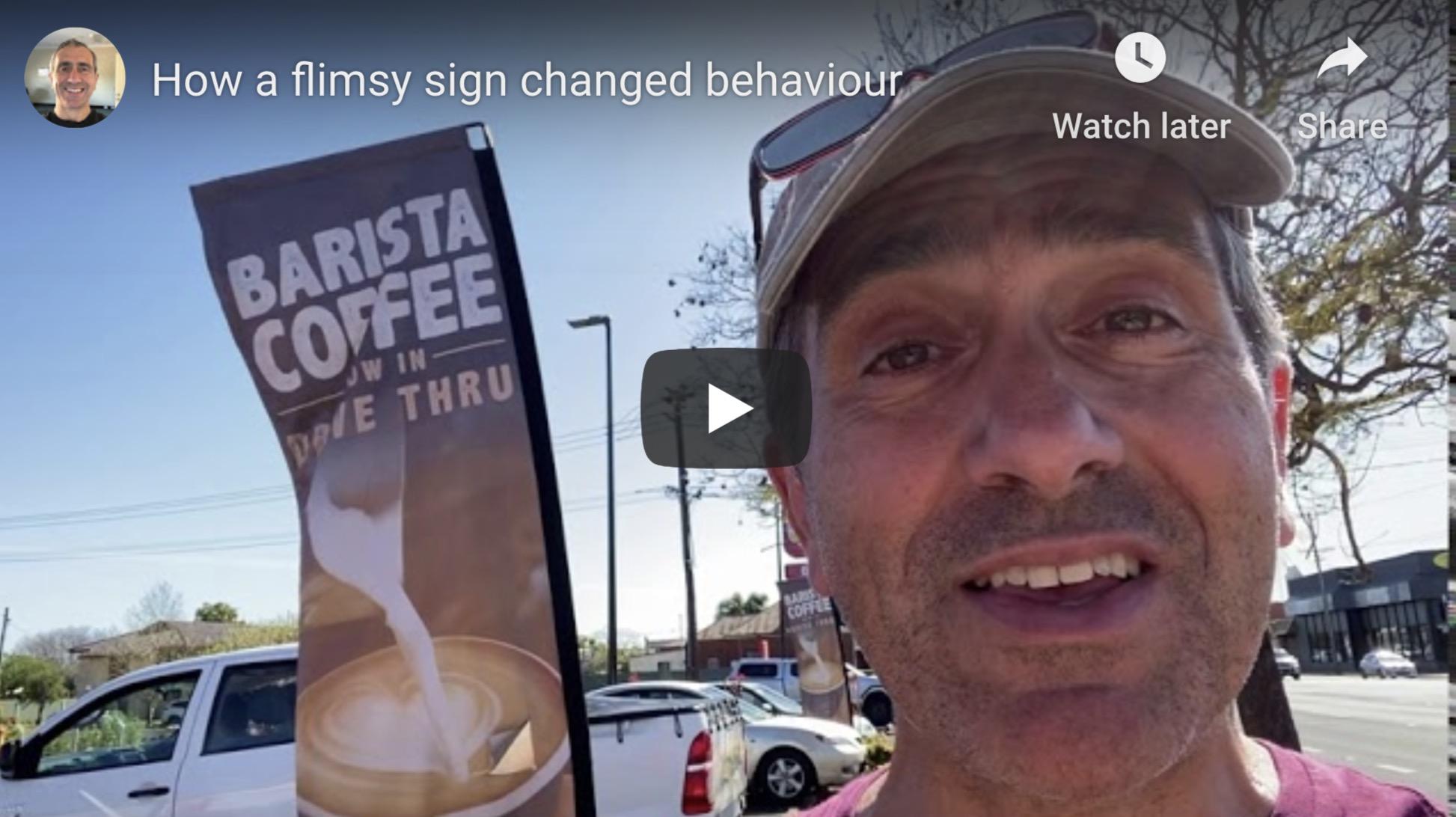 Hungry Jacks Coffee sign